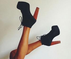 black, brown, and heels image