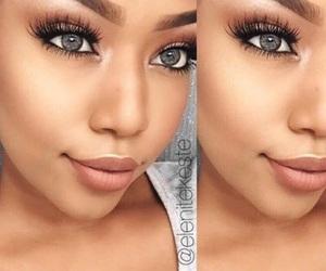 black, eyebrows, and eyelashes image