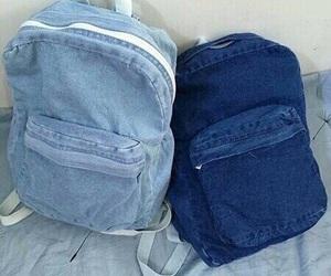 blue, denim, and bag image