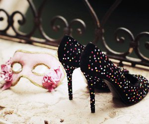 shoes, heels, and mask image