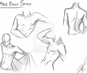 body, draw, and male image