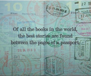 travel, passport, and book image