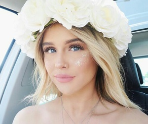 coachella, acacia brinley, and flowers image