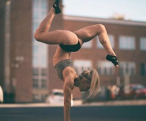 fit, fitness, and handstand image