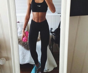 fit, body, and nike image