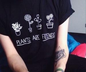 plants, grunge, and black image