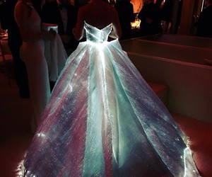 dress, light, and met gala image