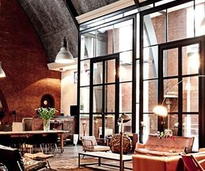 interior, home, and loft image