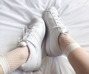 white, aesthetic, and shoes image