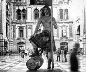 long haired men, kilts, and edward saxby image
