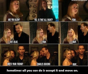 doctor who, rose tyler, and doctor image