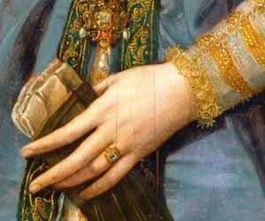 detail, hand, and painting image