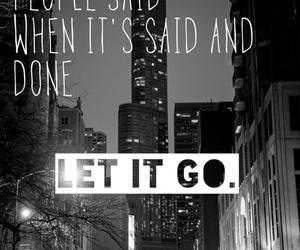let it go, the neighbourhood, and Lyrics image