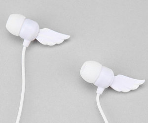 white, music, and wings image
