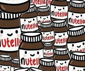 nutella, love, and wallpaper image