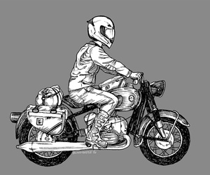 art, arte, and motorcycle image