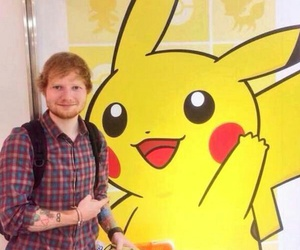ed sheeran, multiply, and pikachu image
