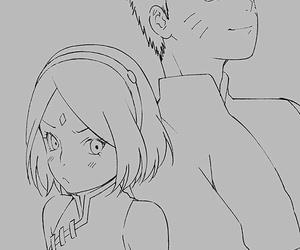 naruto uzumaki, anime couple, and sakura haruno image