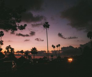 sky, sunset, and summer image