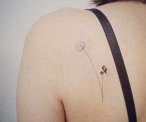 flower, minimalist, and tattoo image