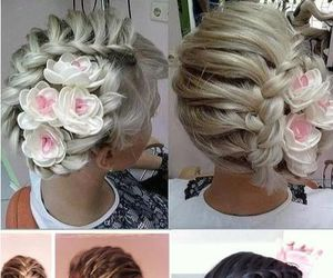 beauty, braid, and hairstyles image