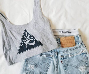 Calvin Klein, grey, and tumblr outfit image