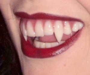 red, vampire, and teeth image