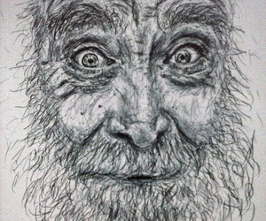 art, drawing, and old man image