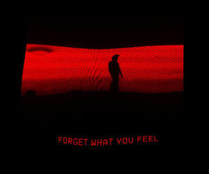 red, feelings, and forget image