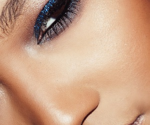 blue, eyeshadow, and glitter image