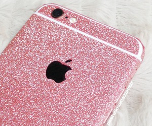 glitter, iphone, and pink image