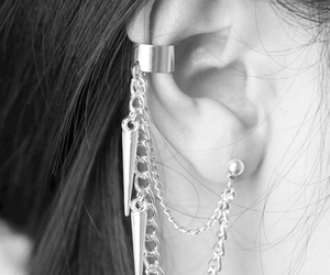 earring, fashion, and ear cuff image