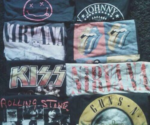 nirvana, kiss, and ramones image
