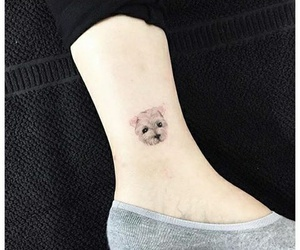 <3, dog, and tatto image