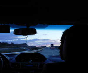 car, grunge, and sky image