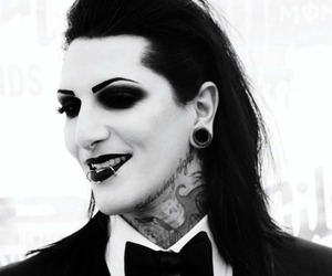 motionless in white, chris motionless, and rock image