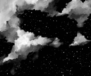 aliens, art, and black and white image