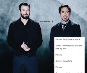 captain america, chris evans, and tony stark image