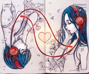 music, love, and art image