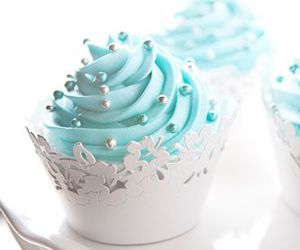blue, cupcake, and sweet image