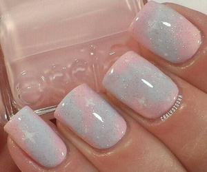 nails, sparkly, and cute image
