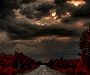 alone, red, and road image