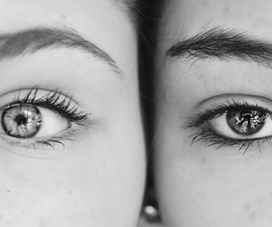 best friend, eye, and eyebrows image