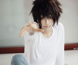cosplay, L, and death note image