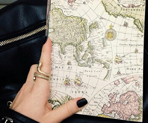 travel, map, and black image