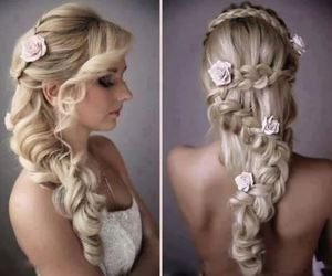 flower, formal, and hair image