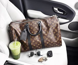 Louis Vuitton, drink, and LV image