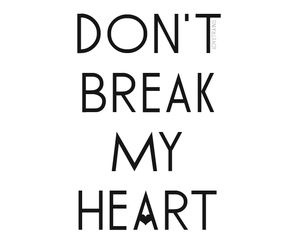 break, heart, and don't image