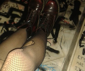 boots, dark, and legs image