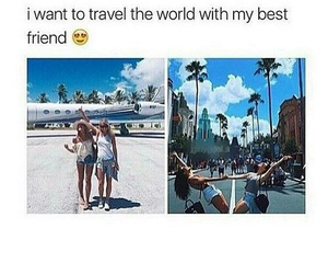 travel, city, and friend image